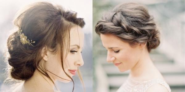 35 Romantic Wedding Updos For Medium Hair: Fryzury ślubne: Romantyczne Upięcia