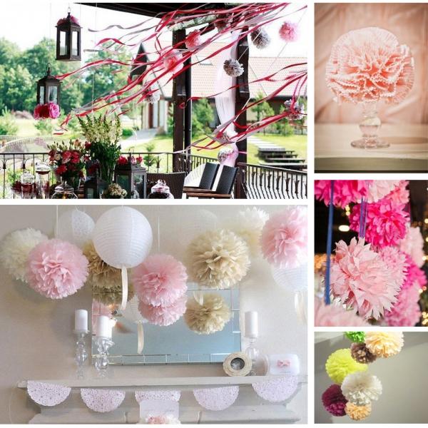 papierowe i kwiatowe dekoracje lubno weselne. Black Bedroom Furniture Sets. Home Design Ideas