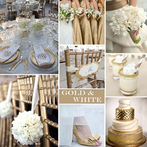 Biało Złota Paleta ślubna Klasyczna I Wyrafinowana