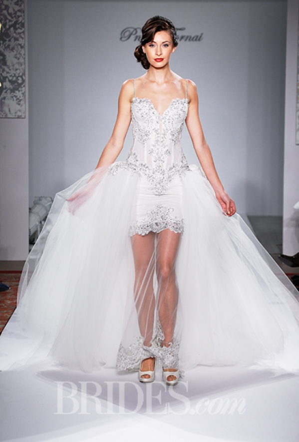 4ee7cf113a Suknie ślubne 2 w 1 czyli Pnina Tornai Official 2015 Couture Bridal ...