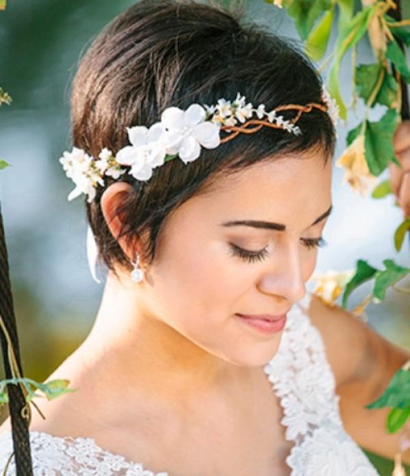 Pixie Hair Style Wedding: 29 Fryzur ślubnych Dla Krótkich Włosów