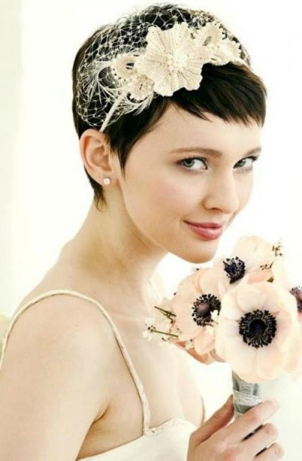 29 Fryzur ślubnych Dla Krótkich Włosów ślub Na Głowie