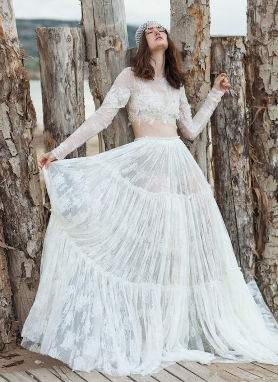 Dwuczęściowa Suknia Do ślubu