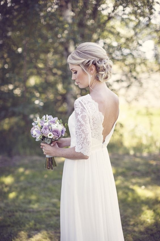 Wyjątkowo Kobiece Suknie ślubne Bez Pleców