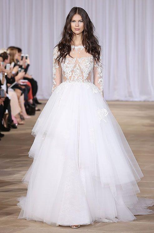 Cudowne Seksowne Suknie ślubne Z Długim Rękawem