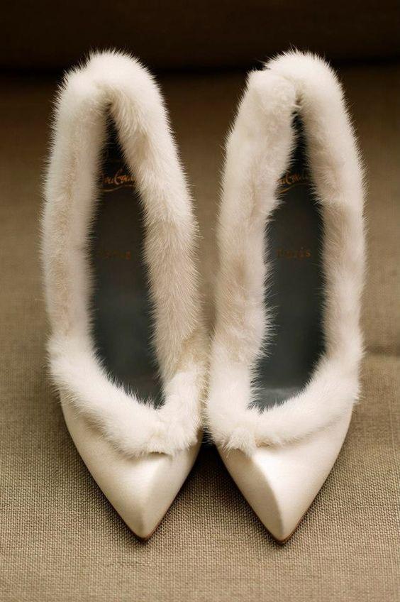 8d901819 zimowe pantofle do ślubu na zimę