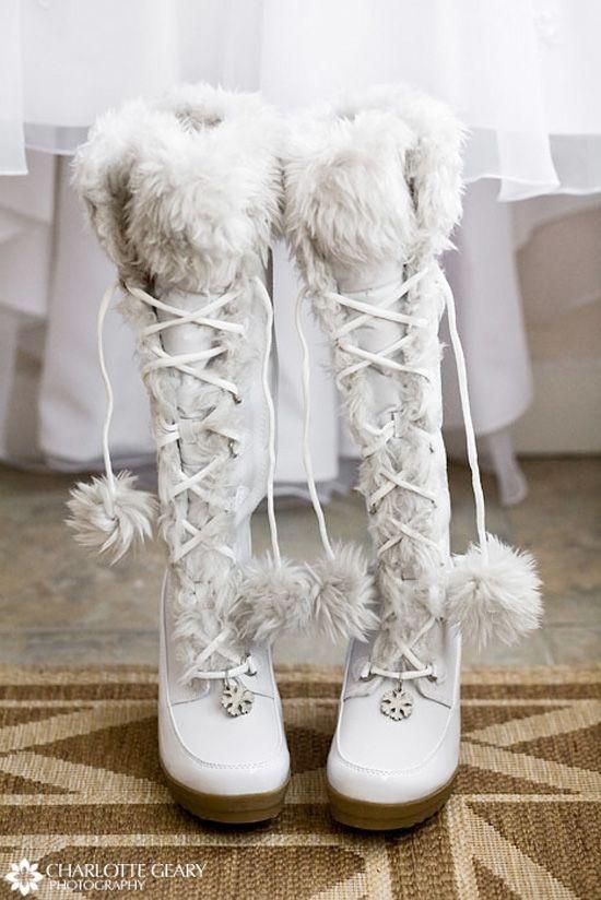 Zimowe Pantofle Do ślubu Na Zimę