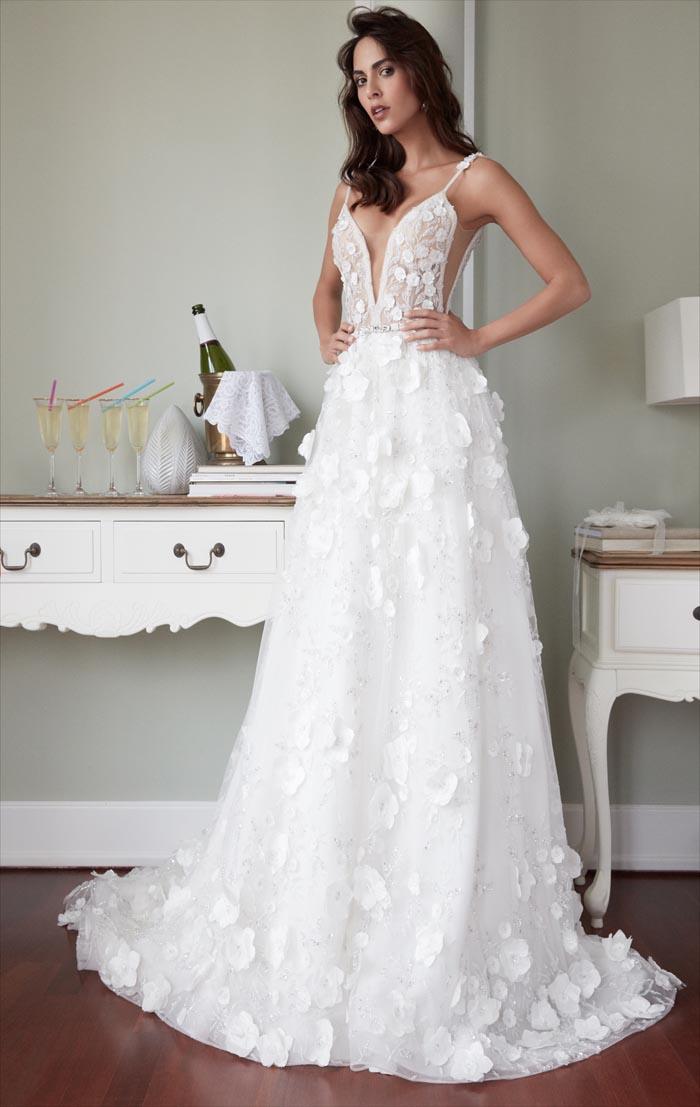 Nowoczesna Klasyka W Sukniach ślubnych Z Kwiatowym Motywem